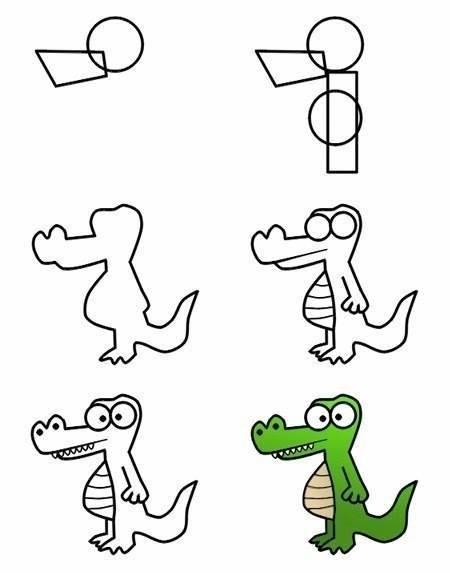 да нарисуваме крокодил