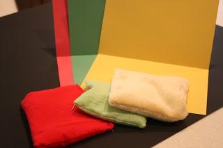 цветна хартия и плат