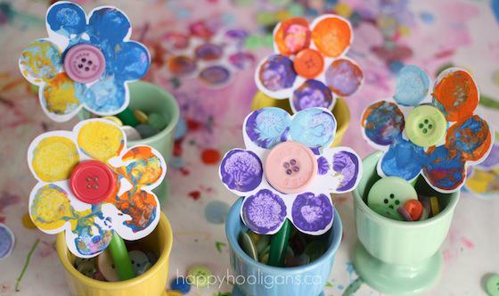 цветя деца рисуване