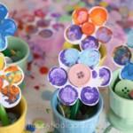 нарисувани цветя