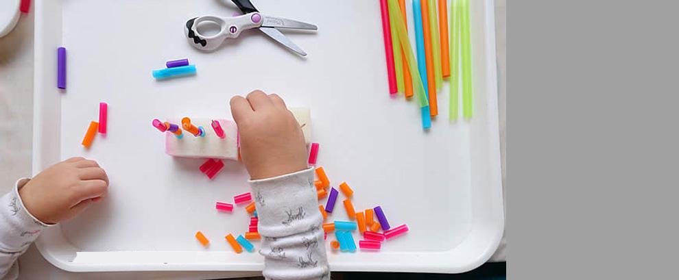 Игри с цветни сламки